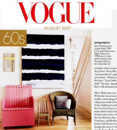 picture on painting in Vogue magazine